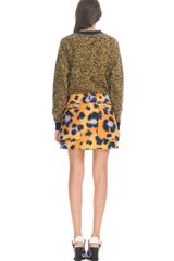 Kenzo Water Repellent Leopard Skirt in Animal (leopard) - Lyst