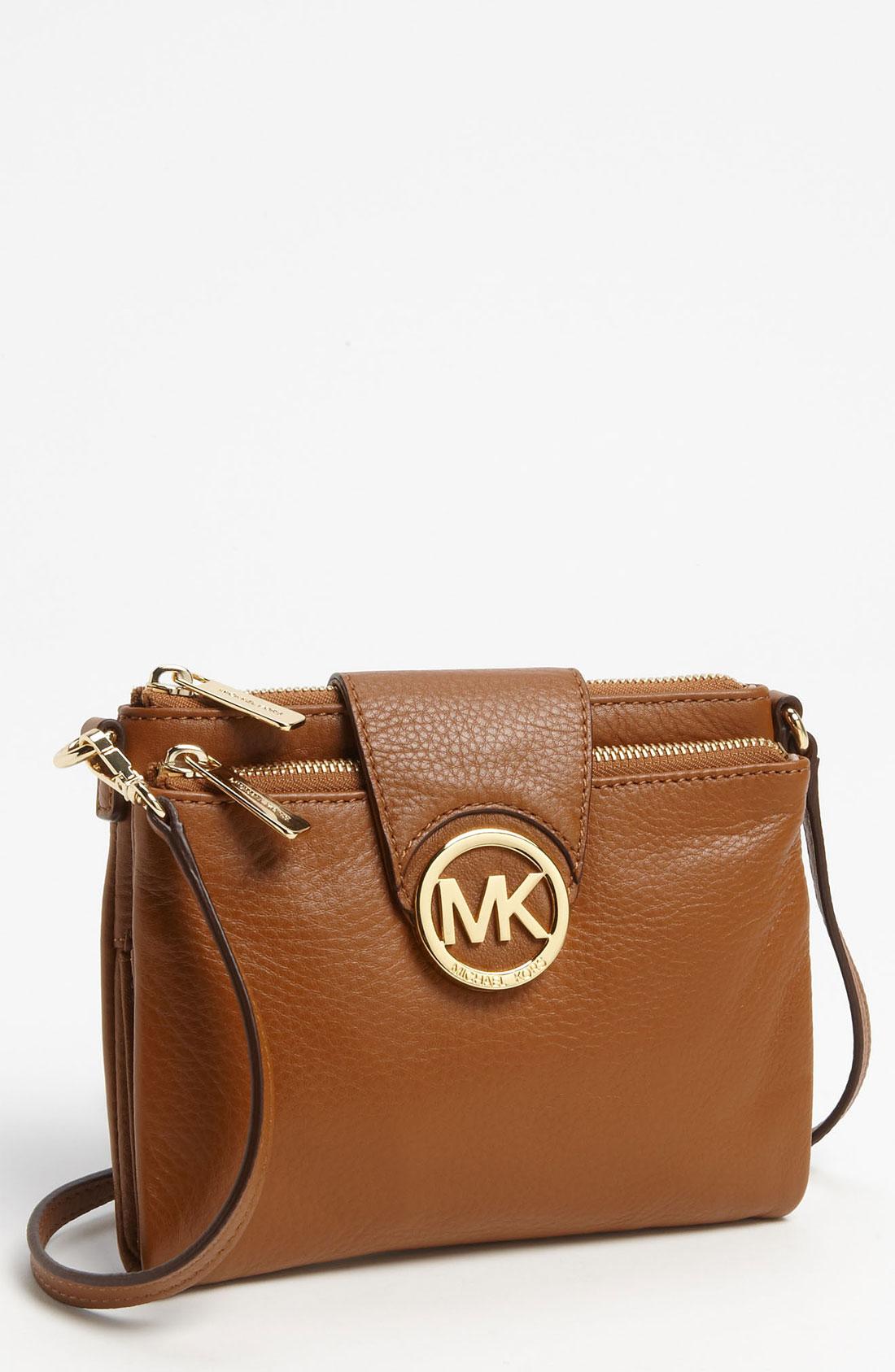 15eecacf6f0e Michael Michael Kors  Fulton - Large  Crossbody Bag in Brown ...