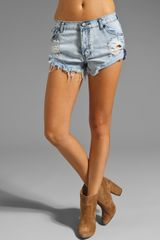 One Teaspoon Slashed Bandit Short - Lyst