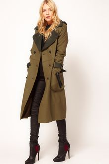 ASOS Collection Asos Longline Military Coat - Lyst