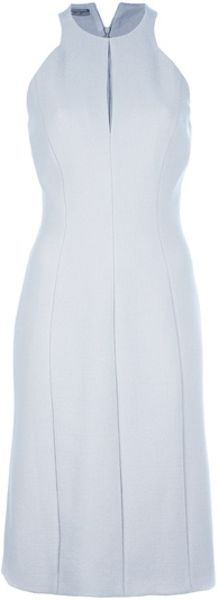 Bottega Veneta Sleeveless Dress in Gray (grey) - Lyst