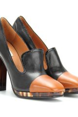 Dries Van Noten Leather Platform Pumps in Brown (rust) - Lyst