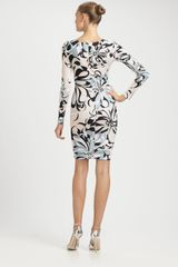 Emilio Pucci Jersey Azaleaprint Dress in Blue (begonia) - Lyst