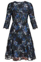Erdem Crepe and Lace Dress