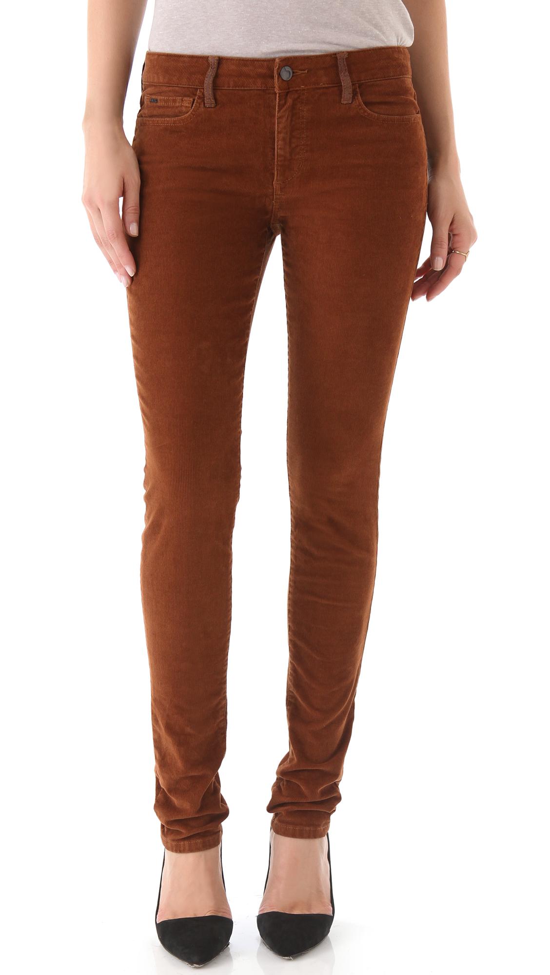 Creative CurrentElliott 39The Stiletto39 Crop Skinny Corduroy Pants