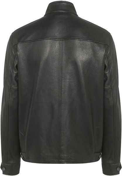 Polo Ralph Lauren Leather Barracuda Jacket In Black For