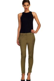 Wes Gordon Stretch Cotton Silk Pant - Lyst