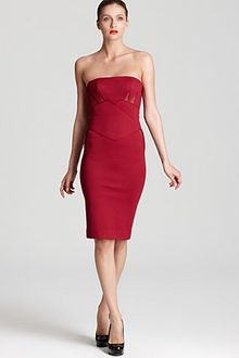 Zac Posen Strapless Dress Fitted Bondage Jersey - Lyst