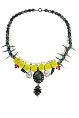 Asos Premium Flocked Gem Stone Necklace in Multicolor (multi) - Lyst