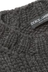 Dolce & Gabbana Looseknit Cashmere Sweater in Gray for Men - Lyst