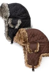 Surell Faux Fur Quilted Aviator Hat - Lyst