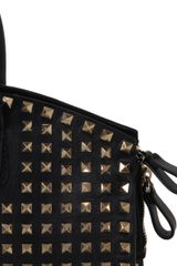 Valentino Dome Rockstud Bag in Black - Lyst
