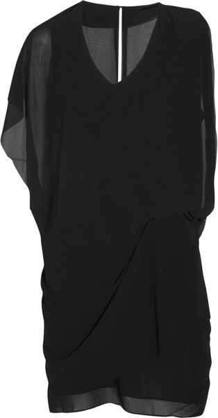 Acne Mallory Draped Crepe Dress - Lyst