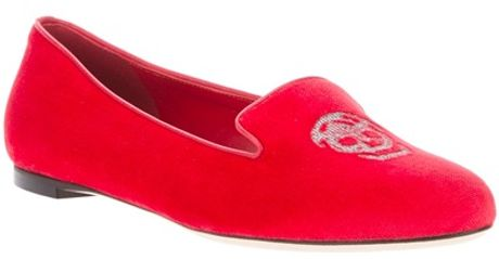 Alexander Mcqueen Slipper Shoe in Red - Lyst