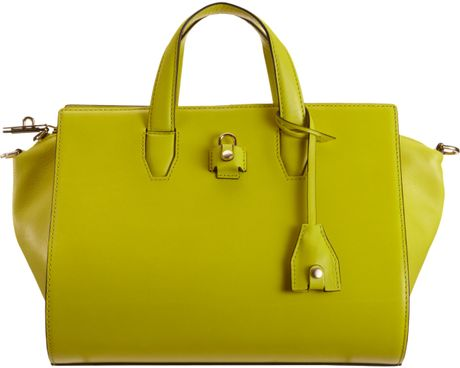 Alexander Wang Pelican Satchel in Yellow (gold) - Lyst