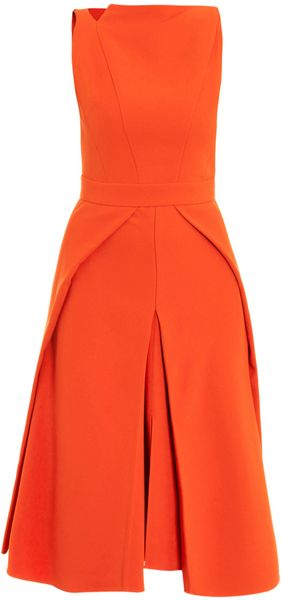 Antonio Berardi Cutout Neck and Overlay Dress - Lyst