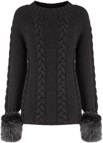 Bastyan Clarity Cable Knit Jumper - Lyst