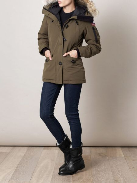 Canada Goose Montebello Furtrimmed Coat In Green Olive