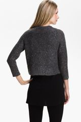 Eileen Fisher Sequin Mohair Blend Cardigan - Lyst