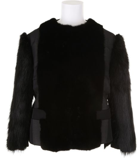 Givenchy Spencer Jacket in Mink and Beaver Fur with Chiffon Finishing in Black - Lyst