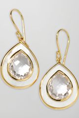 Ippolita Ondine Small Teardrop Earrings Clear Quartz - Lyst