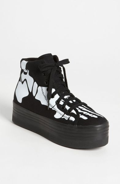 Jeffrey Campbell Homg Skeleton Sneaker in Black (black white) - Lyst