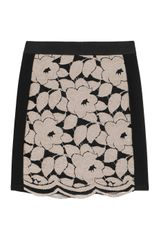 Mason by Michelle Mason Brocade Lace-paneled Stretch jersey Skirt - Lyst