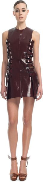 Mugler Ss Opium Cuir Gloss Dress in Brown (opium) - Lyst