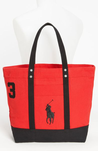 0c5859acb7 Polo ralph lauren tote bag in red for men red black lyst jpg 391x600 Polo  ralph