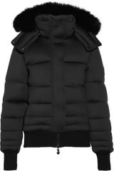 Pyrenex Morphing Foxtrimmed Hooded Neoprene Down Coat - Lyst