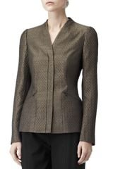 Reiss Structured Blazer in Gold (copper) - Lyst