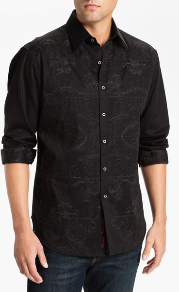 Robert Graham Mastriani Sport Shirt in Black for Men - Lyst