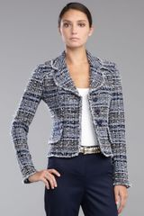 St. John Collection Womens Sutton Tweed Jacket Navymulticolor - Lyst