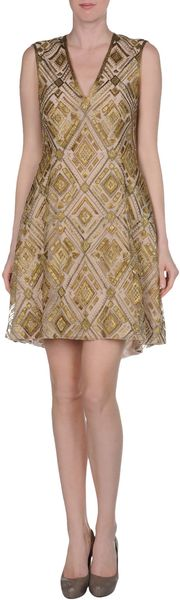 Adam Lippes Short Dress - Lyst