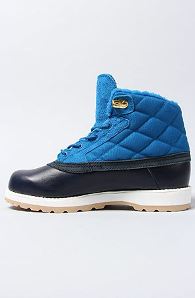 Adidas Blue The Adi Navvy Quilt Boot in Dark Royal White Vapour Dark ...