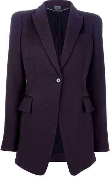 Alexander Mcqueen Fitted Blazer in Purple (aubergine) - Lyst
