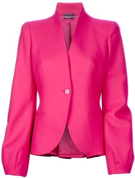 Alexander Mcqueen Single Breasted Blazer in Purple (fuchsia)