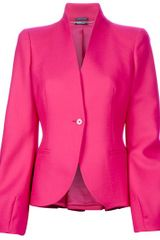 Alexander Mcqueen Single Breasted Blazer in Purple (fuchsia) - Lyst