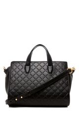 Alexander Wang Pelican Debossed Satchel in Black