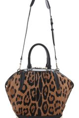 Alexander Wang Emile Small Haircalf Satchel in Animal (natural) - Lyst