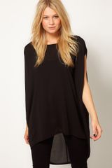 ASOS Collection Asos Tunic with Dipped Back Hem - Lyst