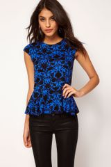 ASOS Collection Asos Bright Floral Peplum - Lyst