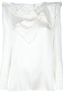 Balmain Bow Detail Structured Blouse - Lyst