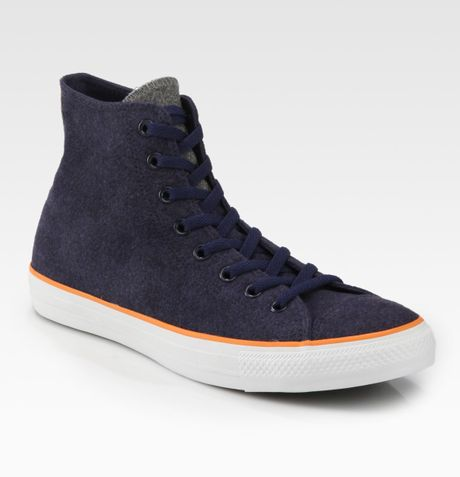 Converse Wool Hightop Sneakers in Blue for Men (navy) - Lyst