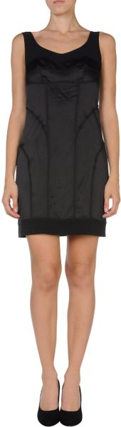 Diane Von Furstenberg Short Dress in Black - Lyst