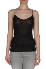 Donna Karan New York Top in Black - Lyst