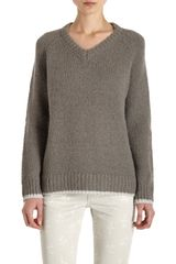 Girl. By Band Of Outsiders Contrast Trim Sweater - Lyst