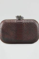 House Of Harlow Marley Snake Embossed Clutch Bag  - Lyst