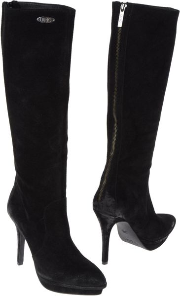 Liu Jo Highheeled Boots in Black - Lyst