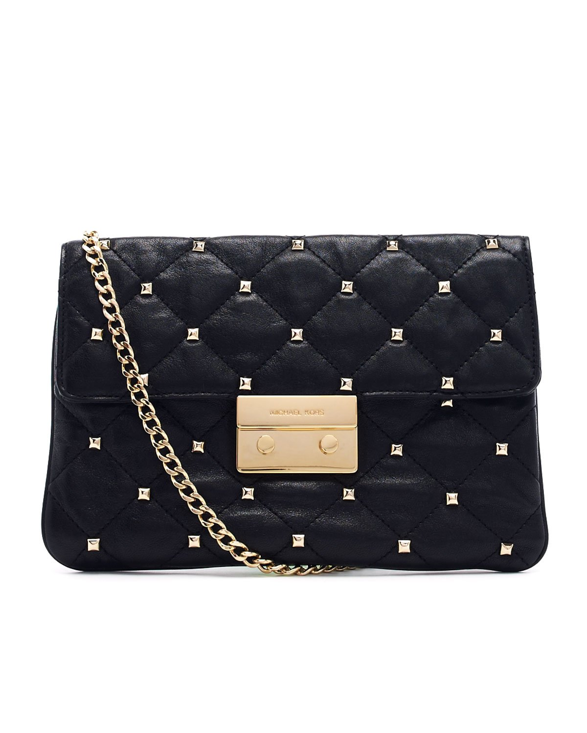 Michael Kors Oversize Sloan Studded Quilted Clutch Bag In